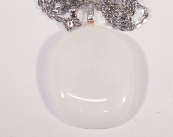 White Wedding, glass pendant.