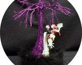 NEW Purple Nightmare before Christmas Wedding Cake topper Sally Jack DISNEY Halloween Centerpiece