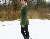 Organic Clothing - Empire Waist Tunic - Shown in Moss - Made to Order