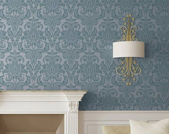 Isle of Palms Damask Wall Stencil for Easy DIY Wallpaper Decor