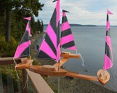 New Fall Four Boat whirligig