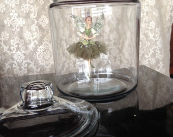 Vintage Apothecary Terrarium Cookie Jar