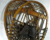 Vintage Rawhide Hand Tethered Snowshoes