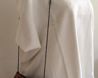 Vintage Soft Cotton Huipil Hand Woven
