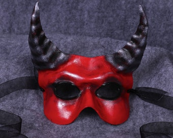 Red Devil, Lil Devil, Leather Mask with Horns, Old Scratch, The Ole Boy, Imp, Beastie Boy, Lucifer, Belial, Pan Satyr, Horns for Halloween