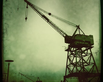 Cranes Industrial Brooklyn New York Shipyards Art Photograph Print