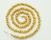 "180 of Karen hill tribe Vermeil Style Rondelle Solid Seed Beads 1.8 mm. 8.5"" :vm0016m"