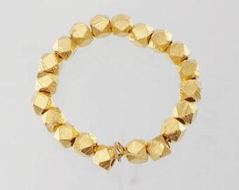 20 of Karen Hill Tribe Silver 24k Vermeil Style Facet Beads 3.4mm.  :vm0010