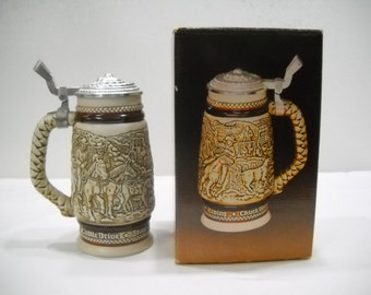 Avon Western Round Up Stein With Lid In Original Box 1980
