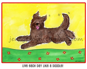 Goldendoodle labradoodle brown live each day T shirt UNISEX