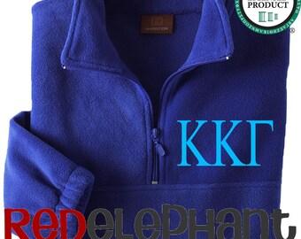 Kappa Kappa Gamma Sorority Pullover Jacket, Monogrammed Sorority Jacket, Monogrammed Zip Jacket, Monogrammed Jacket, Fleece, UNISEX Licensed