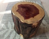 Handcrafted 6 piece Red Cedar Log Puzzle Box with secret compartment