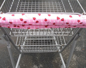 Shopping Cart Cover, Cart Handle Cover, Cart Cover, Shopping Cart Covers, Ladybug Print Cart Cover, Shopping Handy Cart Cover