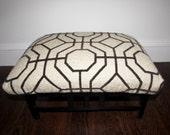 Geometric Modern Upholstered Foot Stool Ottoman