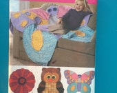 Simplicity Rag Quilts for kids fun shapes, owls and butterflies