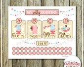 Potty Training Chart | Printable Potty Chart | Potty Routine Chart | Pink Theme | Girl Theme | Instant Download