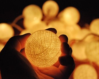 String Lights On Off Switch : 35 Bulbs On-Off Switch Turquoise Rattan ball string lights for