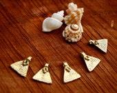 BRASS beads triangle brass beads choose your weight