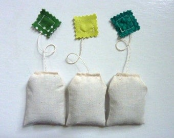 Teabag Sachets. Balsam Fir. Set of Three.