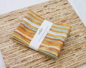 Large Cloth Napkins - Set of 4 - (N2932) - CopperRust Stripe Modern Reusable Fabric Napkins
