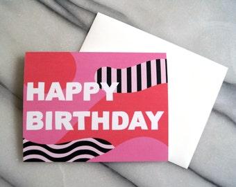 HAPPY BIRTHDAY card - blank inside