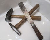 Antique Cobbler Hammer, Keen Kutter Hammer and Putty Knife
