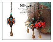 Beading Pattern Beaded Bag Charm Beading Tutorial BLINGERS