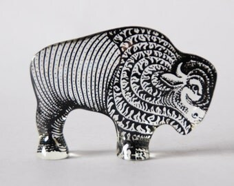 Vintage Rare Abraham Palatnik Lucite Buffalo Figurine 60s
