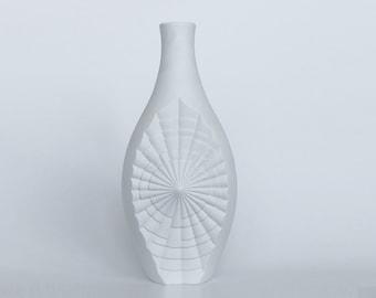 Modernist Tall German Op Art Vase - Hartporzellan Rheinpfalz
