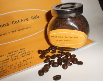 """Coffee Rub """"Sweet Kona""""- A Naughty & Nice Natural Spice Blend- A Tasteful Adventure In Cooking And Barbecuing 5 OZ"""