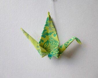 GREENS Large Origami Peace Crane Ornament Set of 25