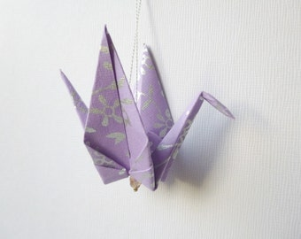 PURPLES Large Origami Peace Crane Ornament Set of 25