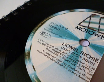 Lionel Richie Record Notebook A6 Recycled Vintage Vinyl Record Writing pad 1980s Motown Vinyl revival