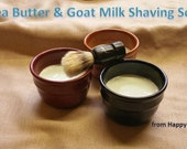 SHAVING Soap-7oz Shea Butter & Goat Milk Shaving Soap in Mug-Tea Tree- by Happy Goat