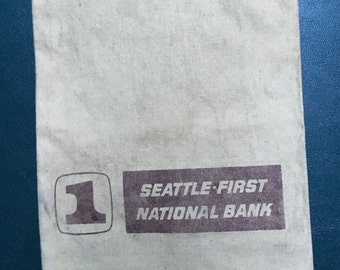 Seattle First National Bank Canvas Money Bag