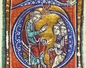 Medieval Illuminated Manuscripts VII - Cross stitch pattern pdf format
