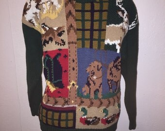 Vintage P Galli Hunting Lover Sweater