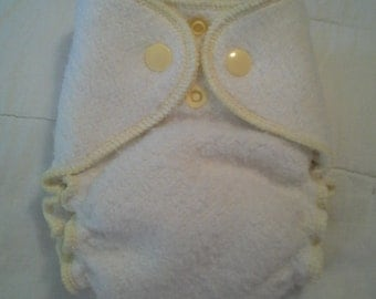 Newborn Organic Hemp Bamboo Fleece Fitted diaper