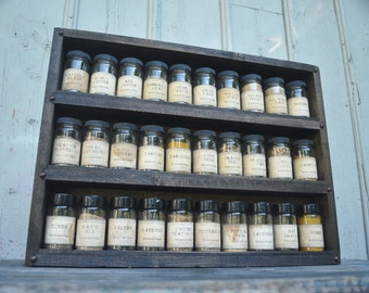 Spice Rack for 30 Spice Jars-  Green Coyote Woodworking - Spice Rack to Hold Spice Jars