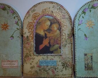Beaded Madonna Shrine