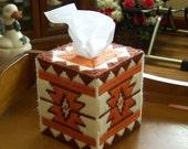 Southwest design tissue box cover