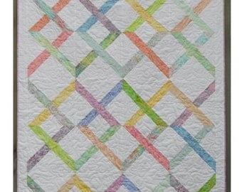 Jelly Roll Quilt Pattern -  Linked In - PDF INSTANT DOWNLOAD