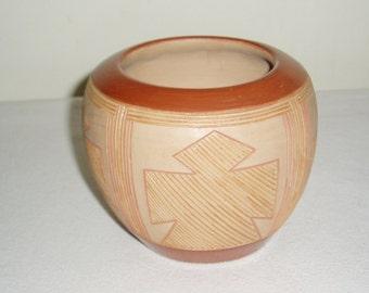 San Juan Pueblo Pottery Bowl, Rosita de Herrera