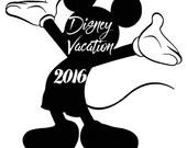Disney Vacation Mickey tshirt design 2016