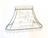 Wire Word Lamp Shade