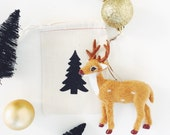 Black Glitter Favor/Gift Cloth packaging Bags  - Christmas Tree