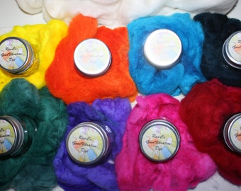 RawCo. 9~Pack Advanced Dye Kit Good Vibrations Dye for natural fibers/ wool / silk / plant