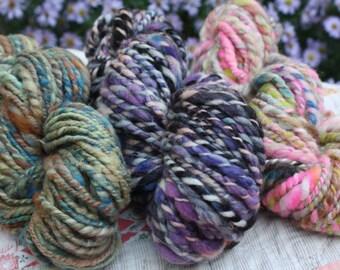 My Favorite Mini Skeins! Art Yarn // Hand spun yarn