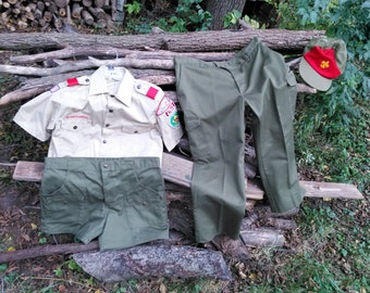 Adult Boy Scout Uniform includes Medium M Shirt, Large L Shorts and Pants and Hat//Halloween//Cub//Scouts Guide to the Zombie Apocalypse