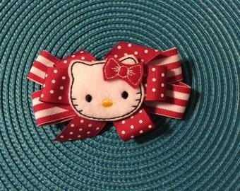 Kawaii Hello Kitty Hair Bow !!